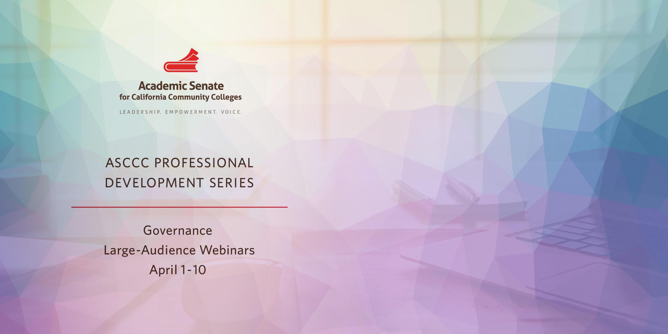 ASCCC Pro Dev 2 Banner - webpage