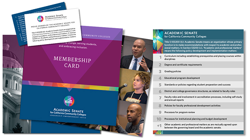 ASCCC 10 + 1 brochure and new member card image.
